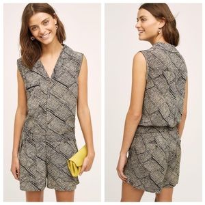 Anthropologie Hei Hei Nova Check Sleeveless Romper